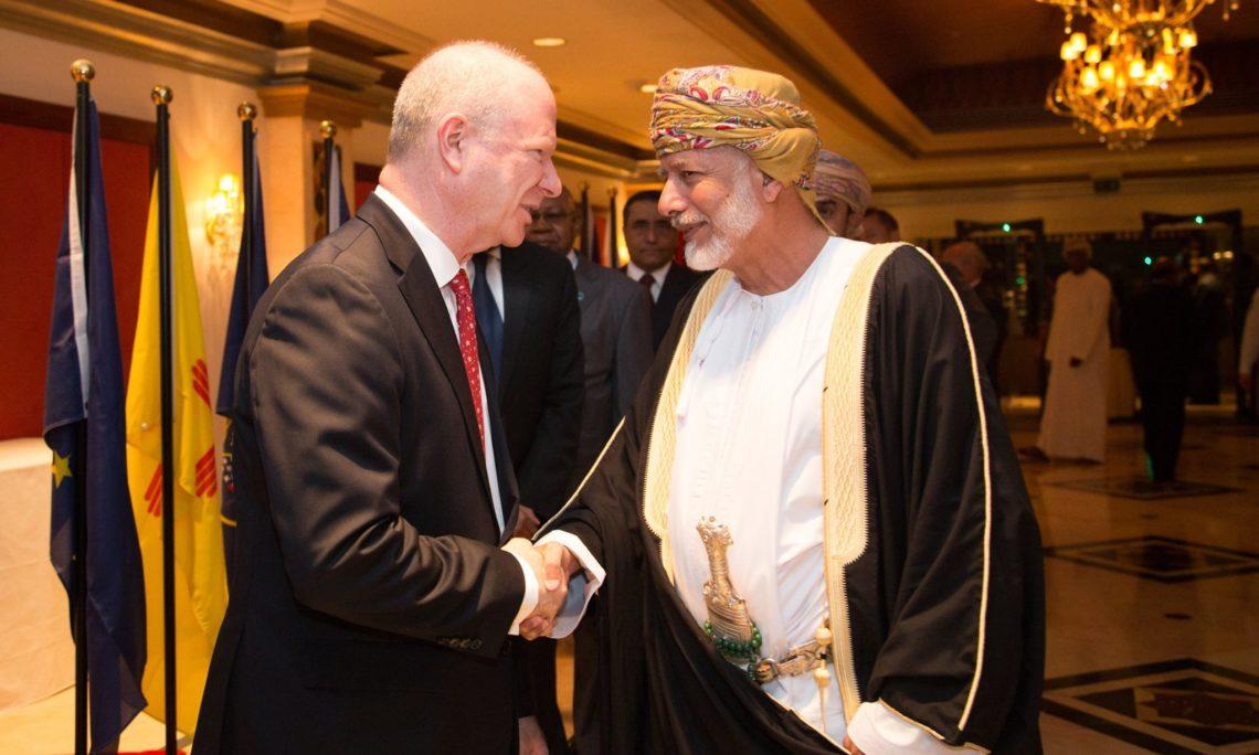 Ambassador Sievers greets Minister Bin Alawi