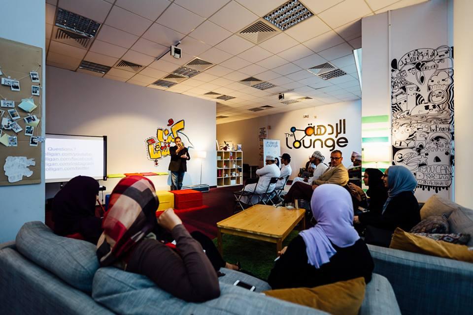 Social Media expert Paul Colligan speaks at The Lounge