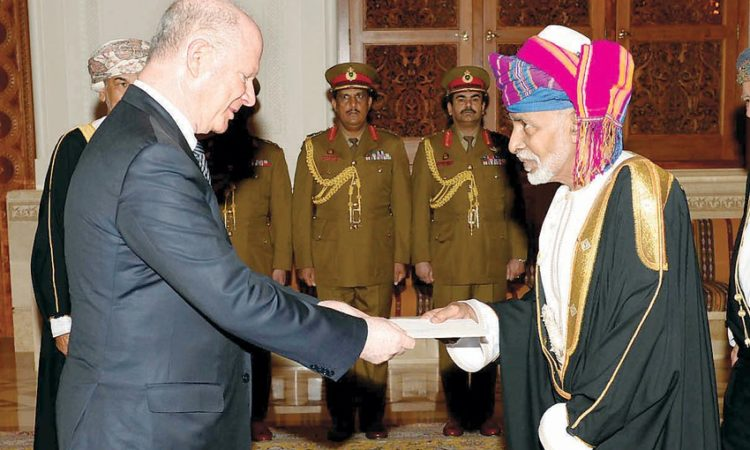 Ambassador Sievers presents his credentials to Sultan Qaboos.