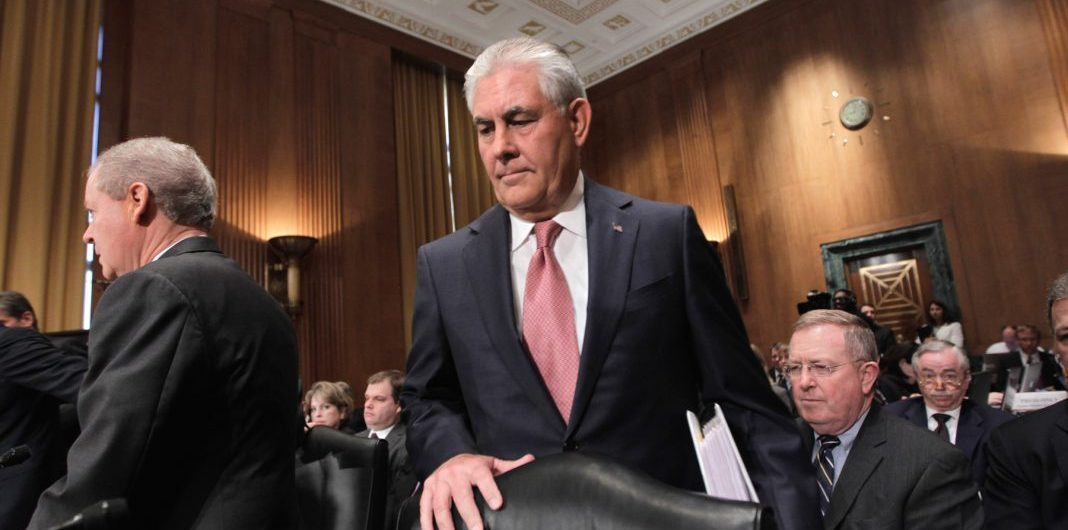 Rex Tillerson, shown here visiting Capitol Hill in 2011, is confirmed as the 69th secretary of state. (© AP Images)