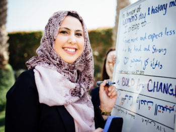 Several members of the Embassy community took the time to write down their own individual pledges for International Women's Day and History Month.