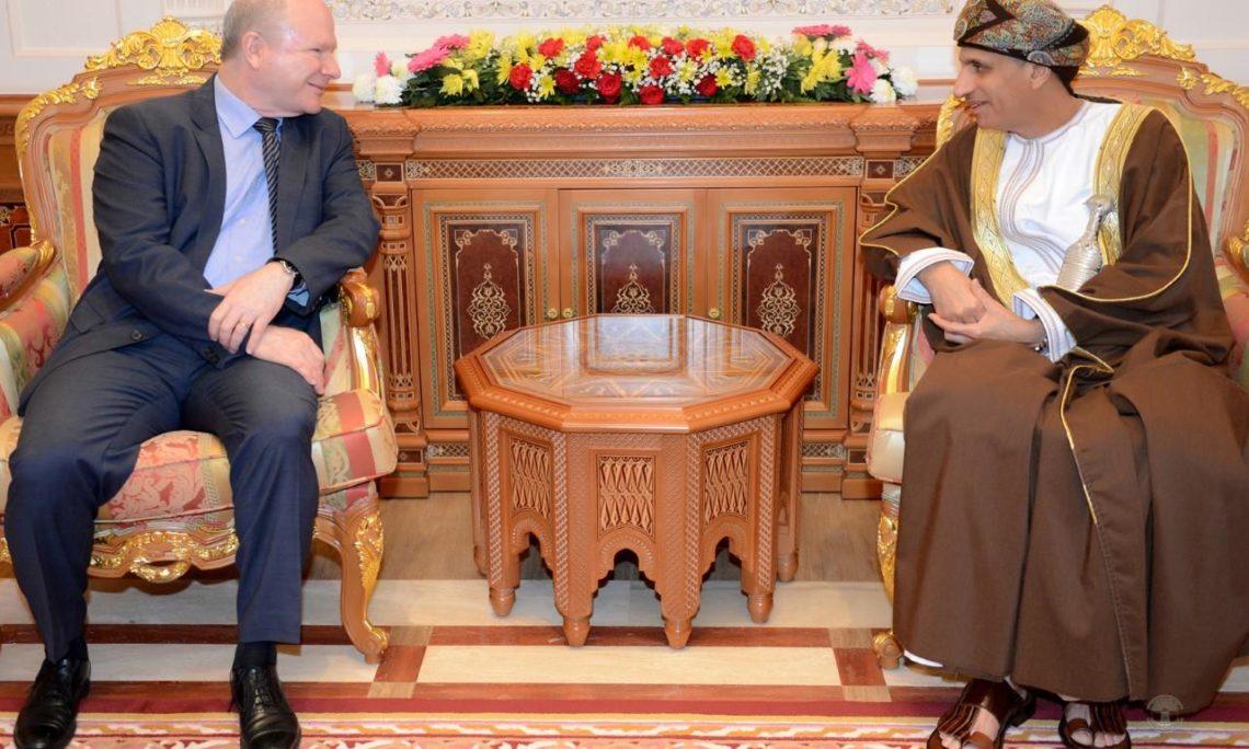 Ambassador Sievers meets with H.H. Sayyid Fahd bin Mahmoud al-Said